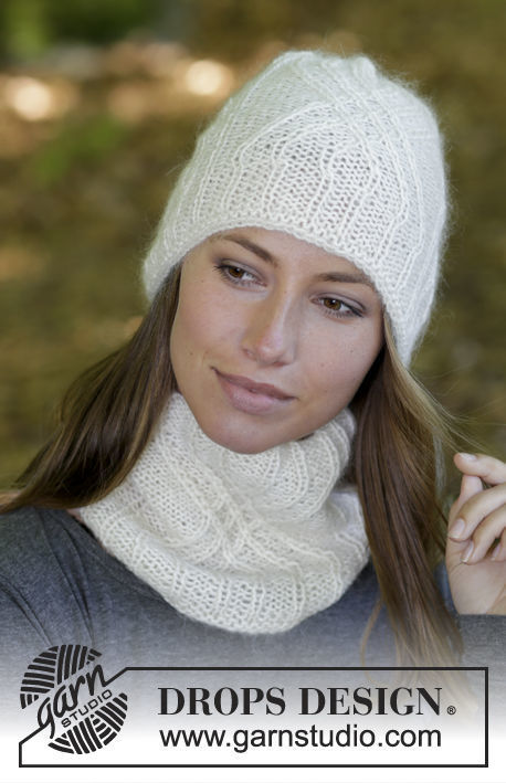 Unisex (adult, teen) knit collar Atlantic. Free pattern.