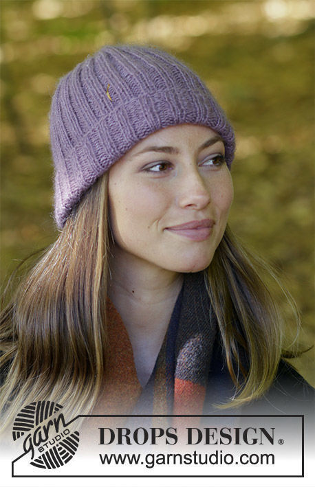Unisex beanie (toque) Vicky. Free knitting pattern for beginners (ribbed ribbing).