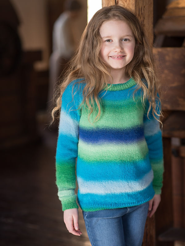 Unisex (children, baby) sweater Jesse. Free easy knitting pattern.