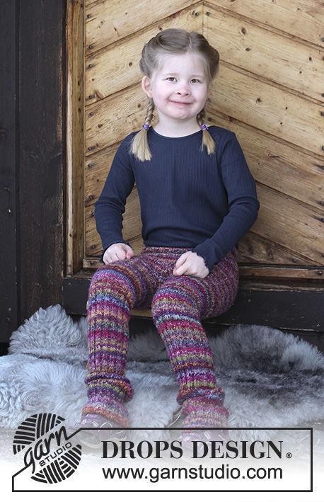 Unisex (children, toddler) pants Winter Fable. Free knitting pattern (ribbed ribbing).