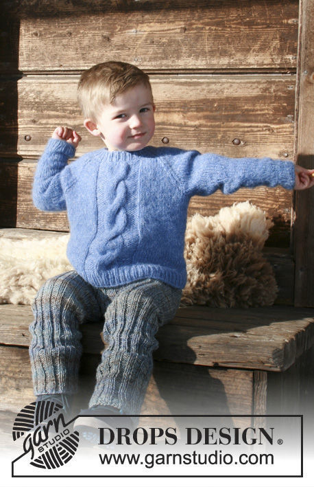 Unisex (children, toddler) pullover Winter Nap. Free easy knitting pattern (cables).