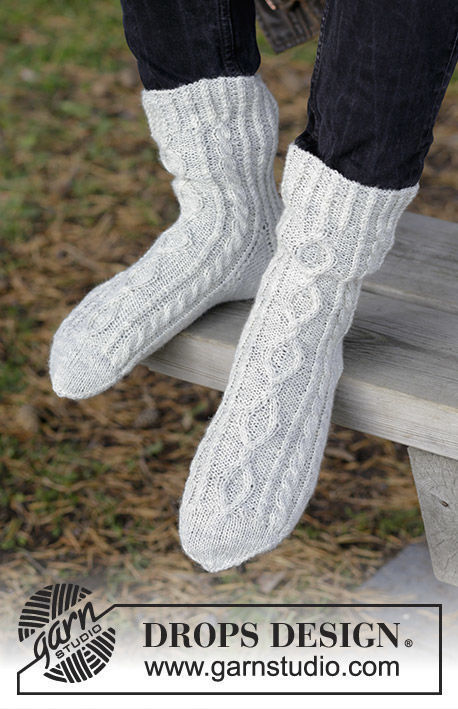 Unisex knit dutch heel (toe wide) Silver Steps. Free pattern.