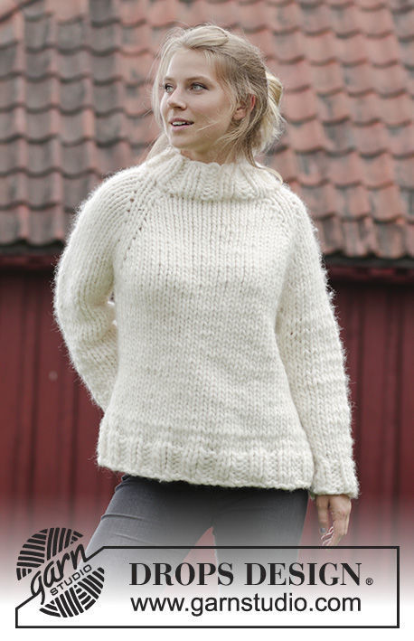 Unisex knit pullover Elise. Free pattern for beginners (raglan).