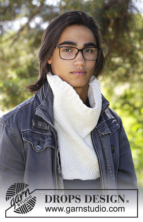 Unisex (teen, adult) collar Breithorn. Free easy knitting pattern.