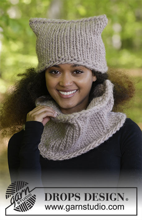 Unisex (teen, adult) cowl Caty. Free knitting pattern (worked in the round).