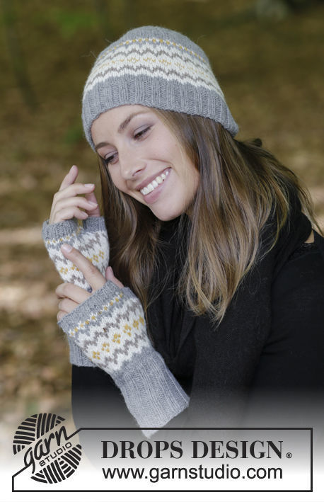 Unisex (teen, adult) fingerless gloves mitts Nanette. Free knitting pattern.