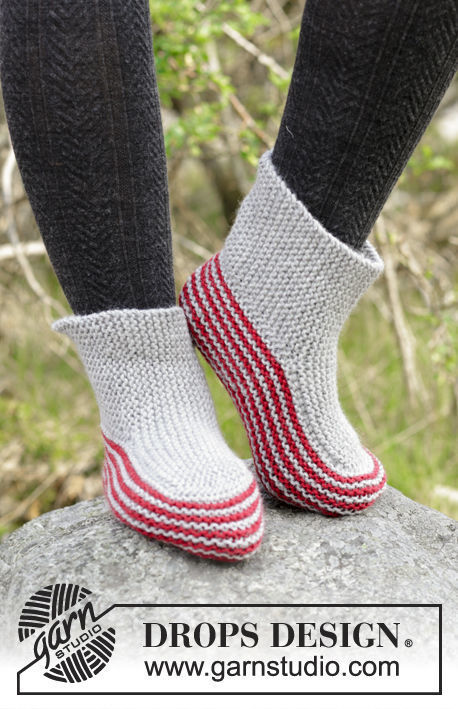 Unisex Teen Adult Slippers Nanna Free Knitting Pattern For
