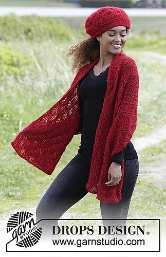 Women's and girls beanie (toque) Hot Coal  Free knitting