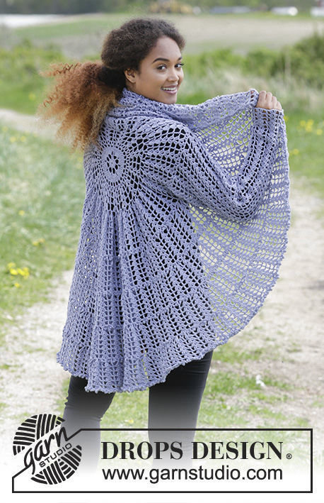 Womens And Girls Cardigan Fairy Glass Free Crochet Pattern V Neck