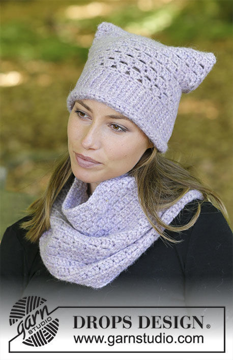 Women's and girls crochet hat Irena. Free pattern (lace, chart, video tutorial, written pattern).