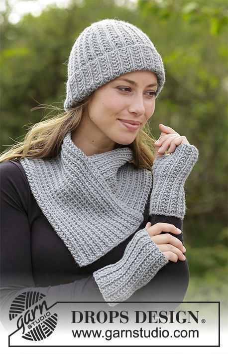 Women's and girls (teen) collar Warm Snap. Free knitting pattern (ribbed ribbing).