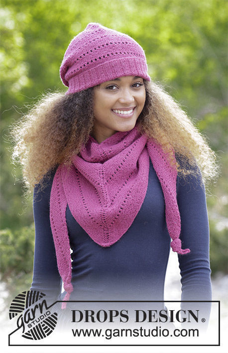 Womens And Girls Teen Knit Beanie Toque Very Berry Free Pattern