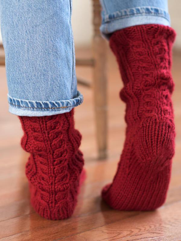 Womens Cable Socks Ayla Free Pdf Pattern