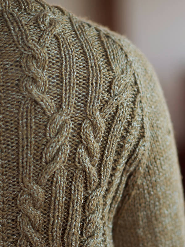 Women's cardigan Arya. Free knitting pattern (cables). 4