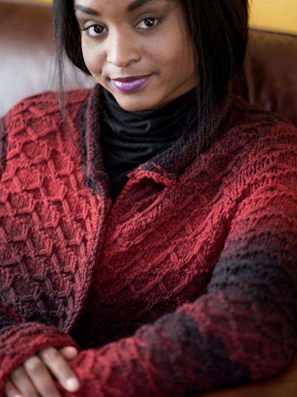 Women's knit cardigan Amara. Free pdf pattern (slipped stitches). 3