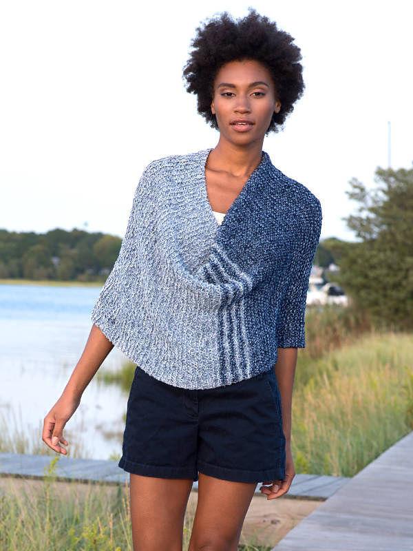Women's knit poncho Archer. 1