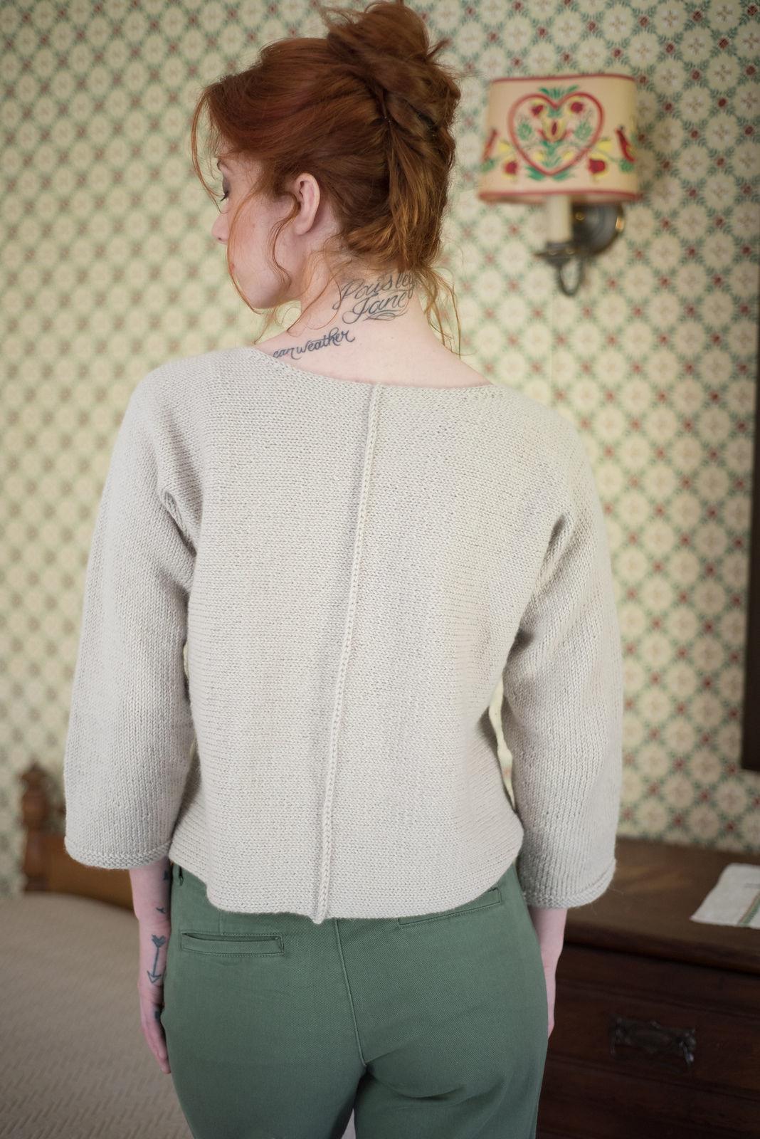 Women's knit pullover Bay. Free written pattern. 3