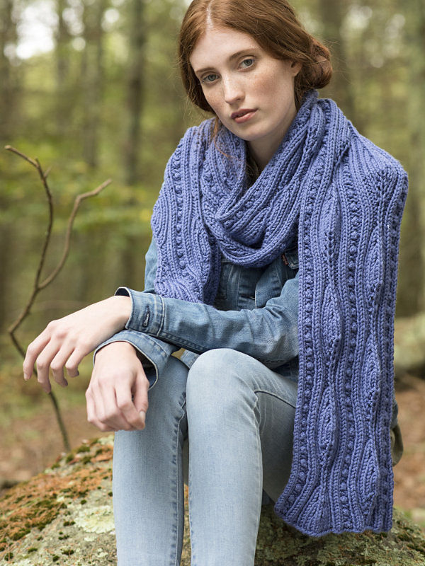 Women's lace scarf Forestdale. Free knitting pattern. 2