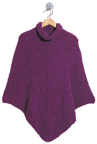 Women's poncho Paige. Free knitting pattern.