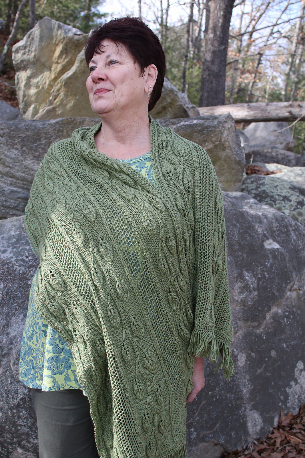 Women's shawl Finally Spring. Free knitting pattern (lace). 2