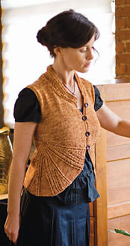 Women's vest Ellis. Knitting pattern free download (lace).