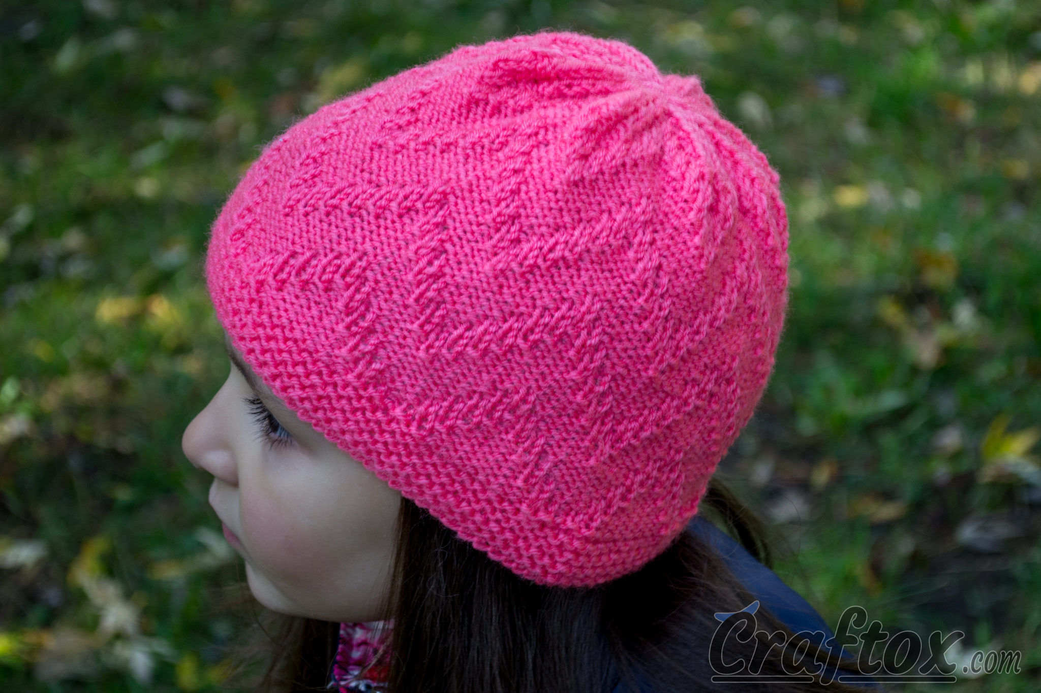 Easy Zig Zag Knitting Pattern : Quot zigzag beanie quick and simple free zig zag hat
