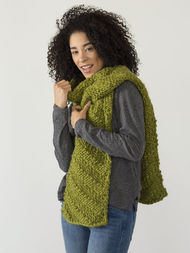 Adults and teens scarf Kallik. Free written pattern (textured). 2
