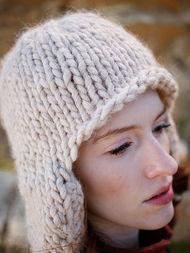Adults knit earflap Zoya