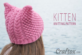 Aran (cables) beanie free knitting pattern