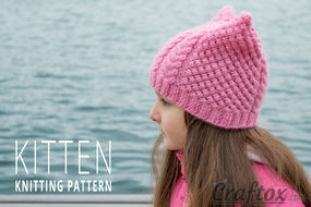 "Aran (cables) cat ear beanie ""Kitten"""