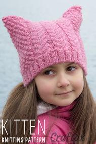 Cat ear beanie free knitting pattern