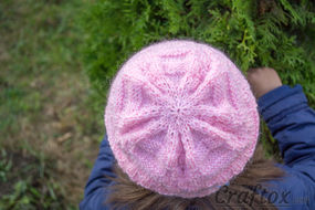 Knit beanie pattern.