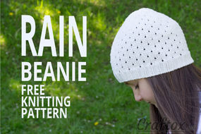 Beanie hat knitting pattern.