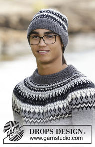 Boys and men's knit beanie (toque) Dalvik 1