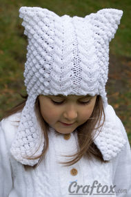 Cat ear hat knitting pattern