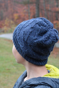 Children's and teen hat Nye. Knitting pattern (cables). 4