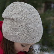 Beanie hat. Knitting pattern for beginners.