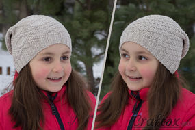 Slouchy beanie hat. Free pattern for beginners.