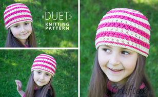 Color stripe beanie hat