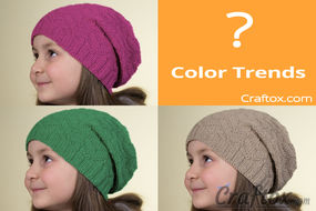 """Color Trends"" unisex slouchy beanie free knitting pattern"