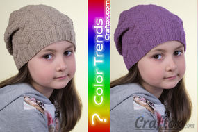 Unisex slouchy beanie hat knitting pattern