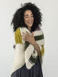 Cozy blanket Aput. Free knitting pattern. 2