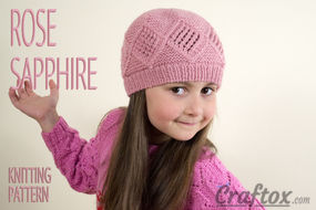 Diamond texture beanie hat knitting pattern