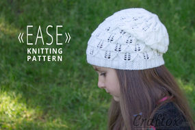 """""""Ease"""" lace slouchy beanie hat"""