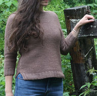 Easy women's raglan pullover Sweetpea. Free knitting pattern. 2