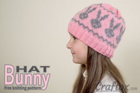 Bunny (rabbit) hat knitting pattern