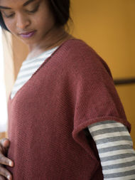 Free knitting pattern for simple oversized tee Cora. 3