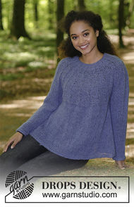 Girls (teen) and women's knit pullover Fleur de Lavande