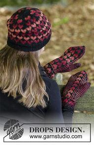 Girls (teen) and women's mittens Queen of Hearts