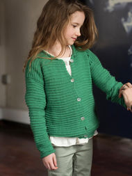 Girls (toddler, children) cardigan Kaylee. Free knitting pattern. 2